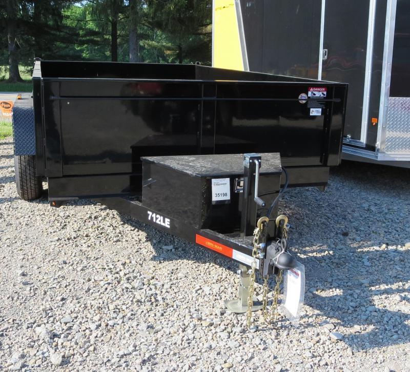 """Bri-Mar DT712LP-LE-10-A 81.5""""x12' Low Pro Dump Trailer 10K GVWR"""