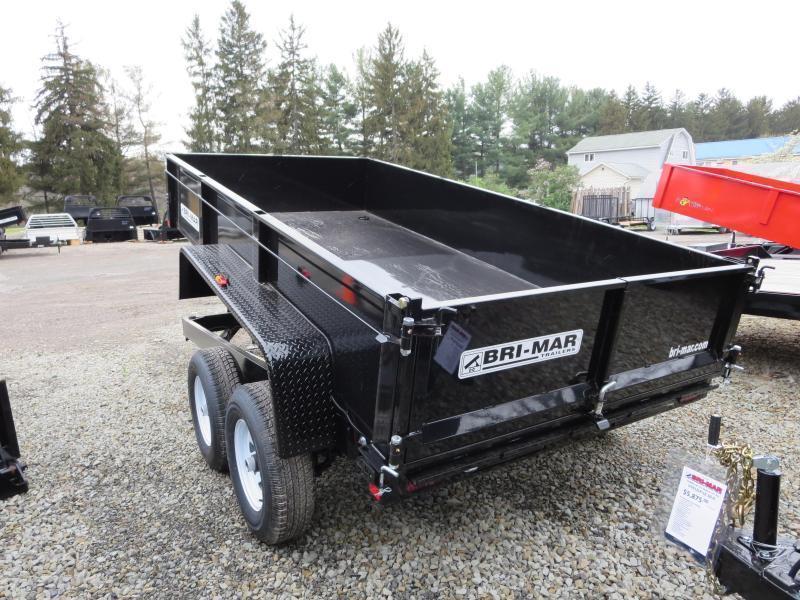 """DT610LP-LE-10-A 72""""x10' Low Pro Dump Trailer 9.9K GVWR"""