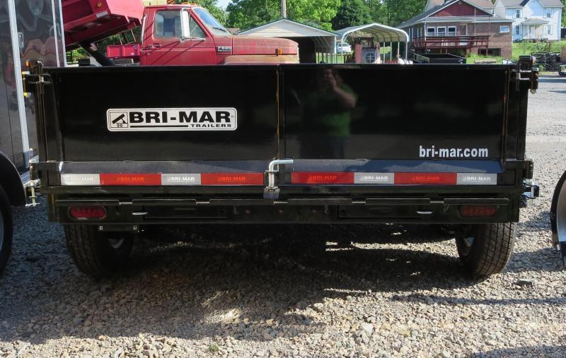 """Bri Mar DT712LP-LE-10-A 81.5"""" x12' Low Pro Dump Trailer 10K GVWR"""