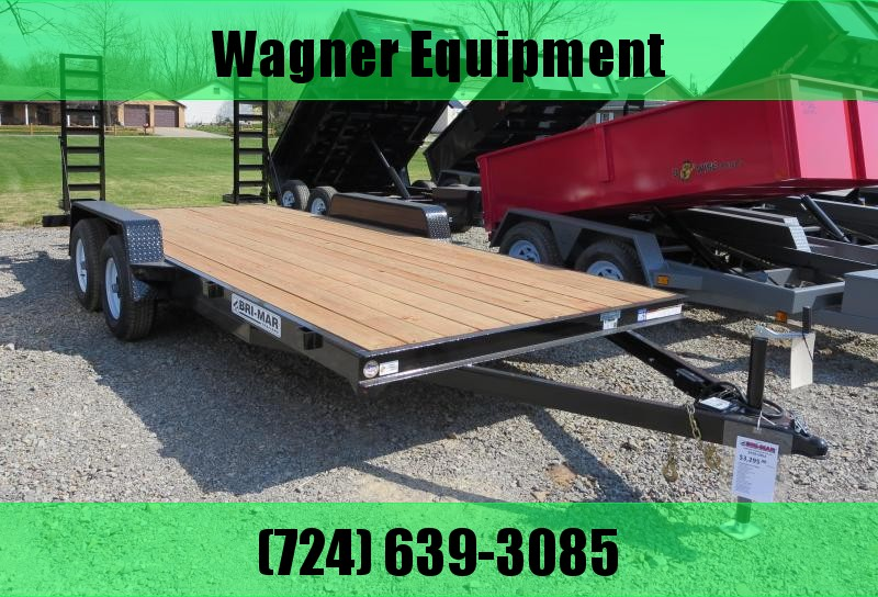 "Bri-Mar EH18-10ELE 84""x18' Equipment Trailer 9.9K GVWR"