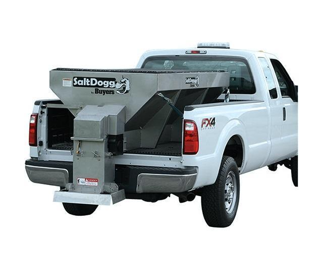 SaltDogg 1400601SS Electric Drive Hopper Stainless Steel Spreader