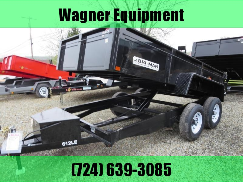 "Bri-Mar DT610LP-LE-10-A 72""x10' Low Pro Dump Trailer 9.9K GVWR"