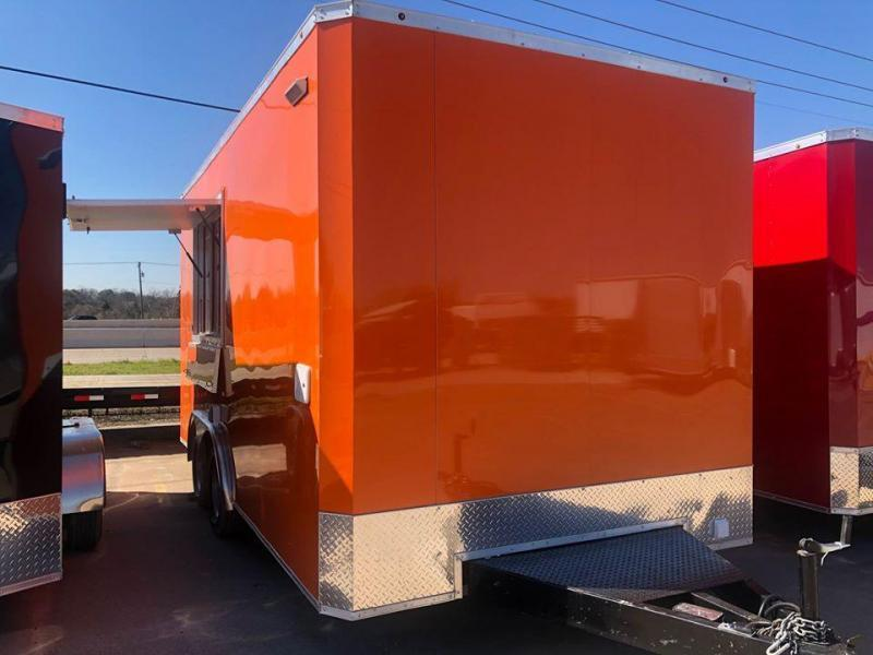 8.5X16TA Orange Vending / Concession Trailer
