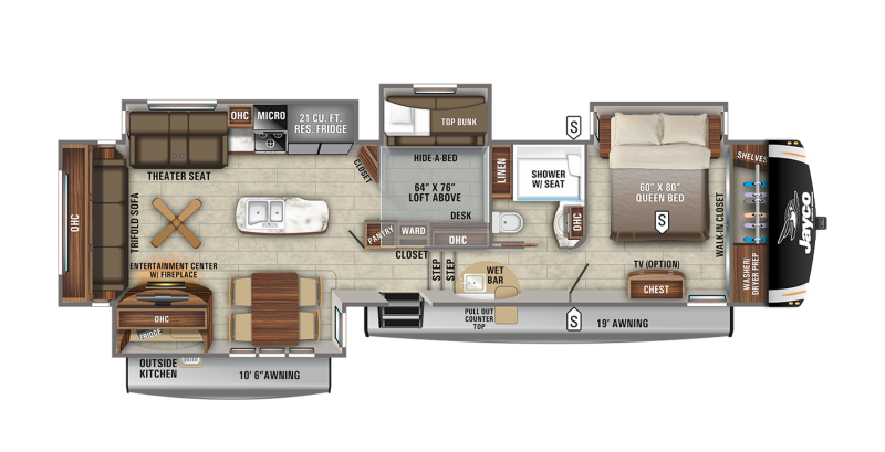 2021 Jayco Eagle 357MDOK Fifth Wheel Campers RV