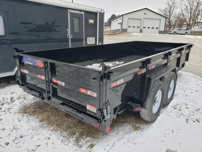 Liberty 14K 83X16 w/Hydraulic Jack Dump Trailer