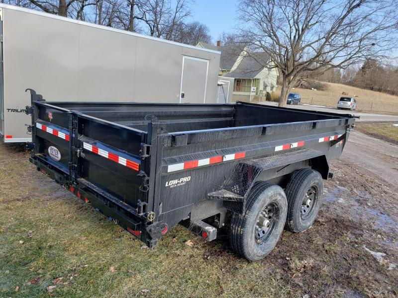 PJ Trailers 83x12 Low-Pro Dump Trailer