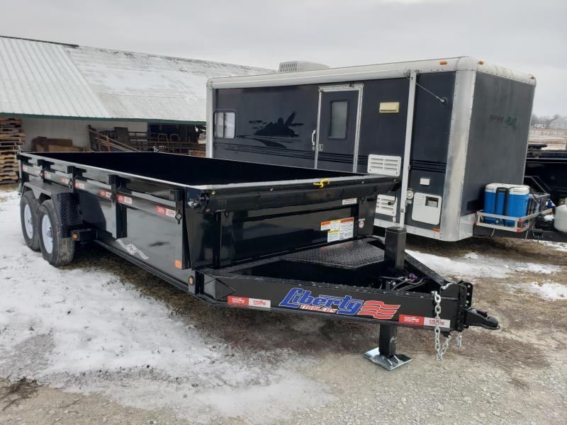 Liberty 14K 83X16 Low Pro w/Hydraulic Jack Dump Trailer