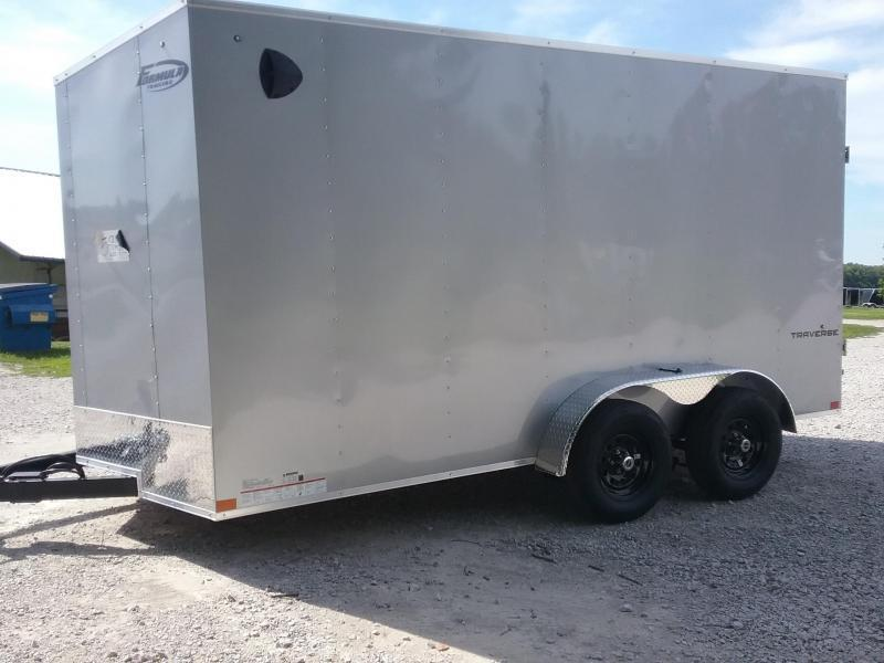 "Formula 7X14 +6"" Height Traverse cargo/Enclosed Trailer"