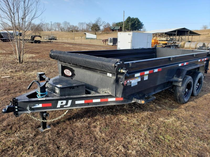 PJ Trailers 14K 83x16 Low Pro Dump Trailer