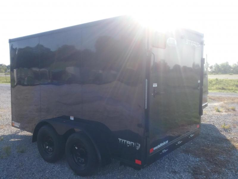 2021 7X12 STEALTH TITAN WITH TRANSLUCENT ROOF WITH BLACKOUT PACKAGE