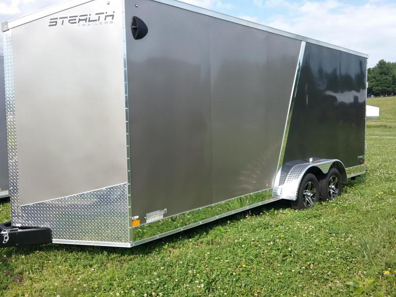 "7X20 (+18"" ADDITIONAL HEIGHT) STEALTH TITAN WITH FLASH PACKAGE TRANSLUCENT ROOF AND REAR STABILIZER JACKS"