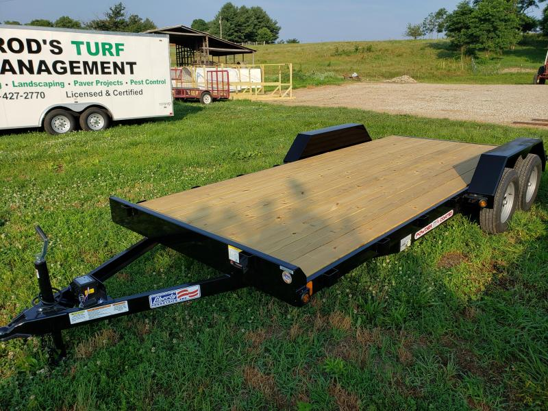 2020 7K 83X18 LIBERTY CAR HAULER WITH 2' DOVETAIL AND SLIDE IN RAMPS