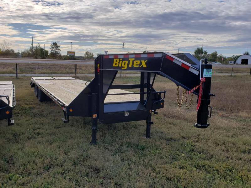 Big Tex Trailers 33' 28+5 w/Mega Ramp  GOOSENECK Flatbed Trailer