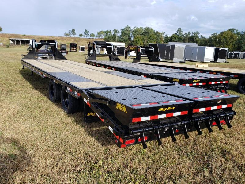 Big Tex Trailers 33' 28+5 w/Mega Ramp  GOOSENECK Flatbed Trailer