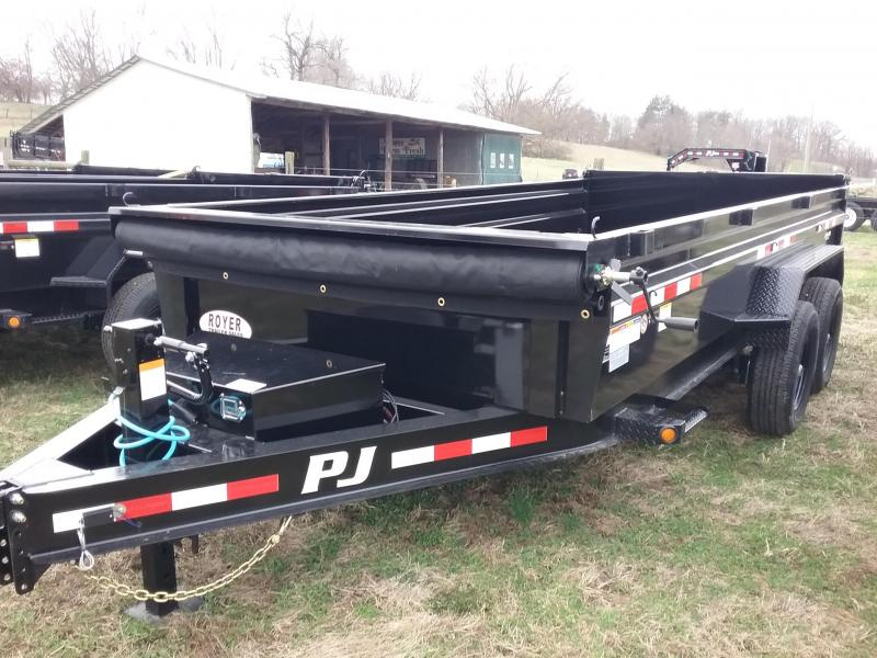 16' PJ Dump Trailer with Tarp Kit-Spare Mount-Split Spreader Gate $8495.00