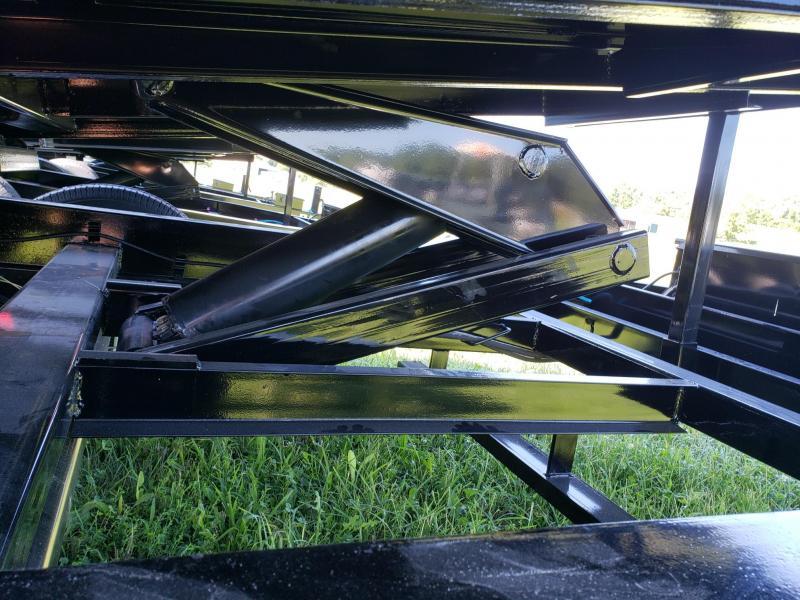 PJ Trailers 14K 83x14  w/2' Side extensions Scissor Lift Dump Trailer