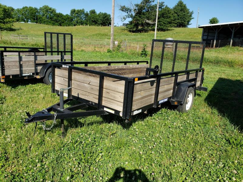 "2014 Sure-Trac 3K 6X12 30"" Wood Side Utility Trailer"