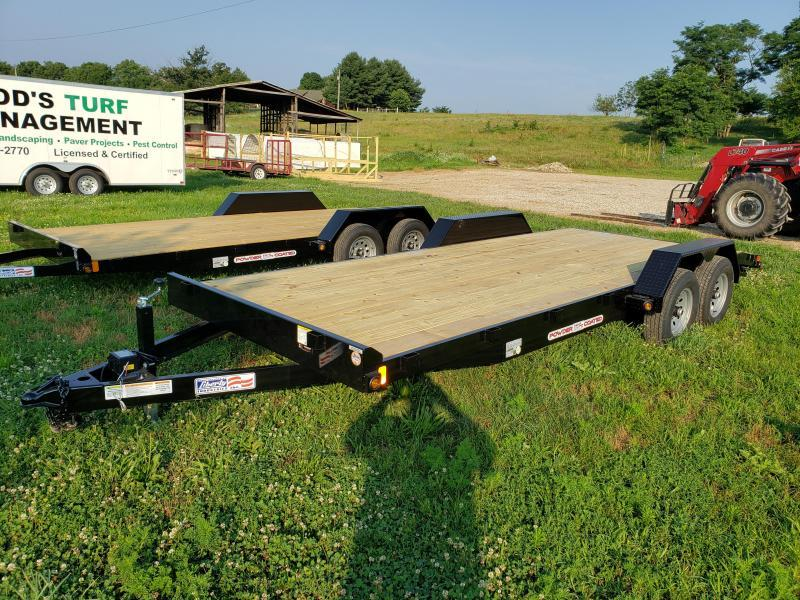 10K 83X20 LIBERTY  CAR HAULER WITH 5' SLIDE IN RAMPS AND 2' DOVETAIL