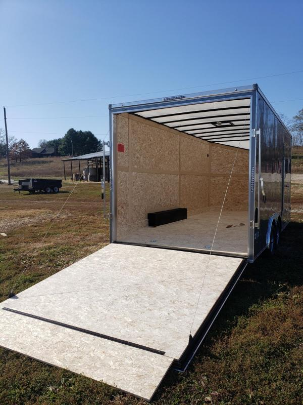 """Stealth Mustang 7K 8.5x18+12"""" (7'6"""" Interior Height) Enclosed Cargo Trailer"""