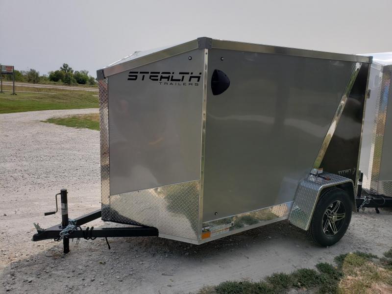 "STEALTH TITAN 5X8 +6"" (5'6""INTERIOR HAIGHT) CARGO/ENCLOSED TRAILER"