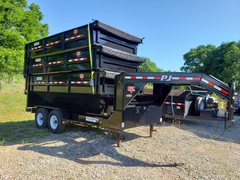 2020 PJ 14' Gooseneck Rollster Dump Trailer w/3 Bins