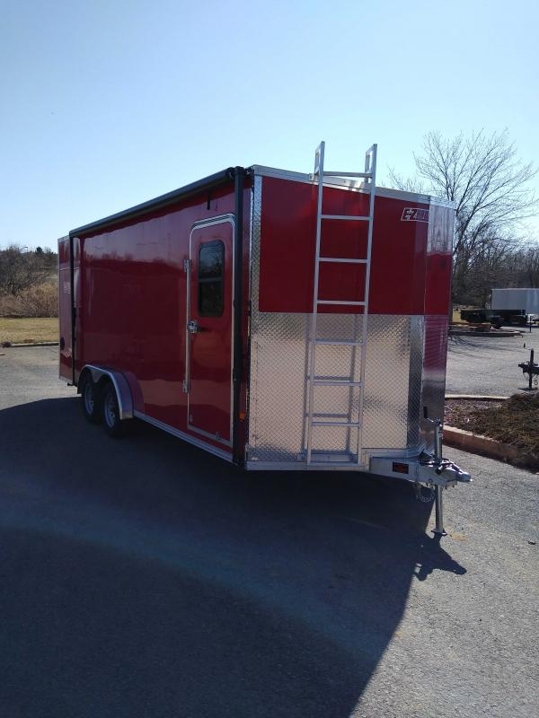 2020 EZ Hauler 7.5x20 Aluminum Enclosed V Nose Enclosed Cargo Trailer