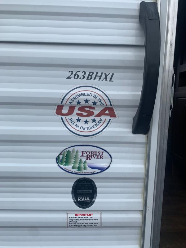 2017 Forest River 263 BHXL Other Trailer