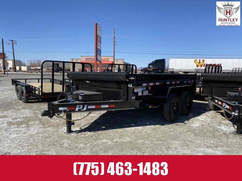 "2021 PJ Trailers 83"" x 12' 14K Low-Profile Dump PRO (DL) Dump Trailer"