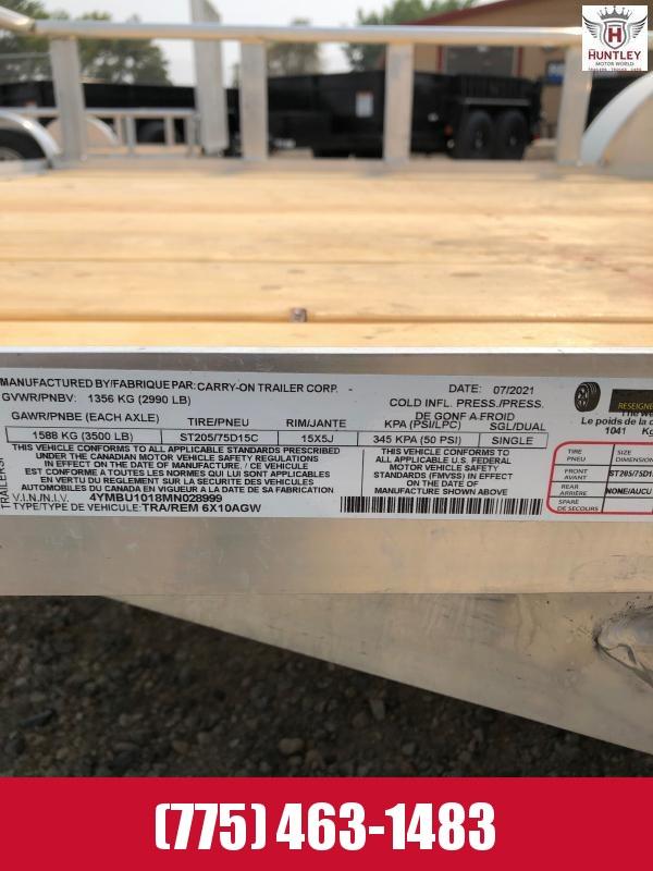2021 Carry-On 6X10AGW Utility Trailer