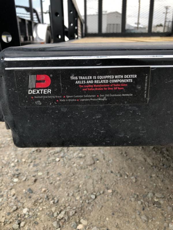 "2022 PJ Trailers 77"" x 12' Single Axle Channel Utility (U7) Utility Trailer"
