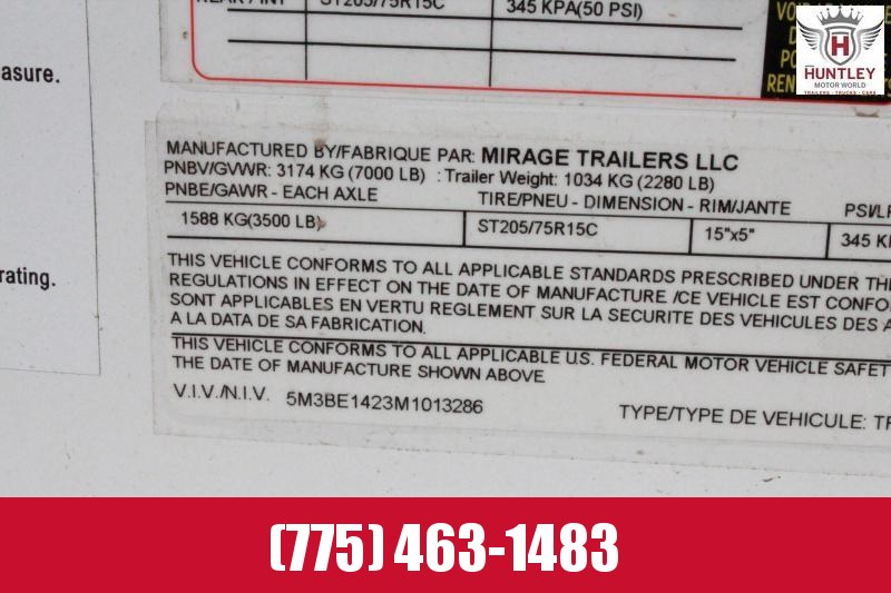 2021 Mirage Trailers XPS7.6X14TA2 Enclosed Cargo Trailer