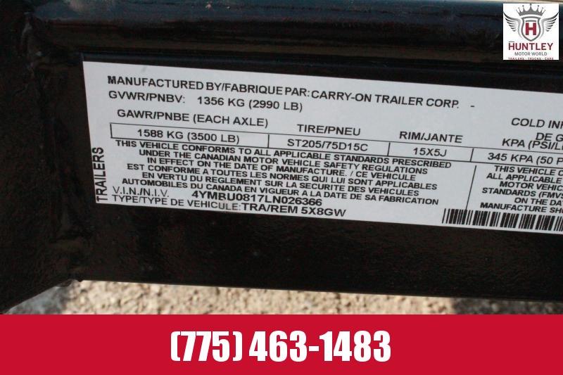2020 Carry-On 5X8GW Utility Trailer $1495
