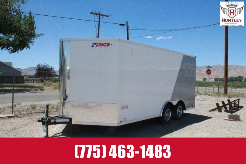 2021 Pace American Cargo Sport 8.5 x16 Side by Side Trailer