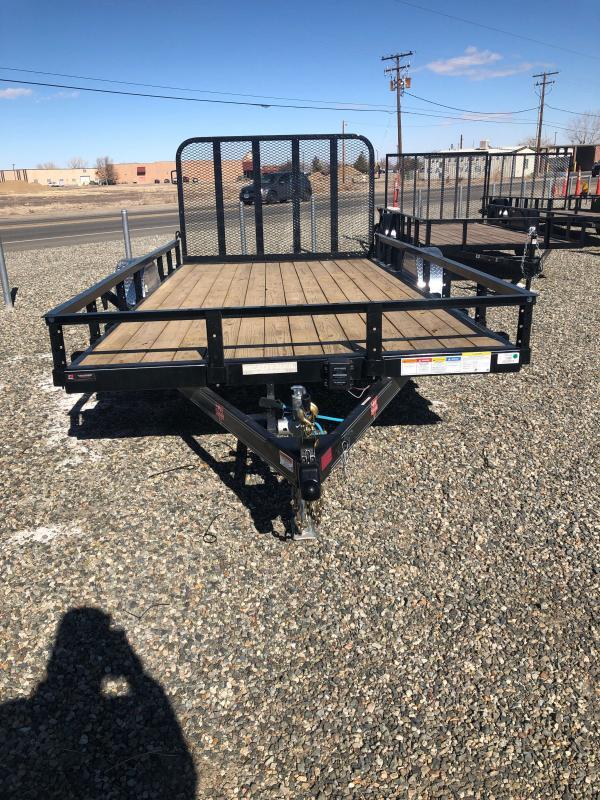 2021 PJ Trailers 83 in. Single Axle Channel Utility (U8) Utility Trailer