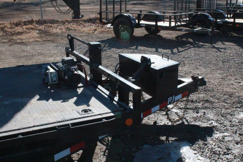2021 PJ Trailers Powered Full Tilt (TF) Equipment Trailer
