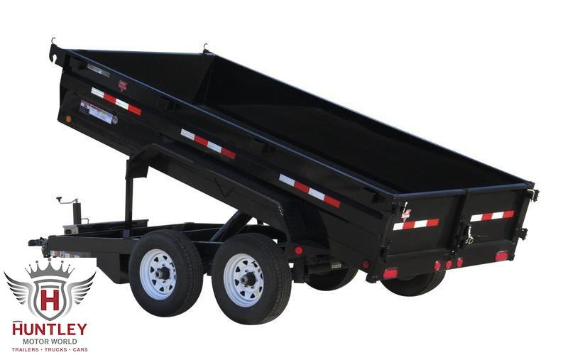 "2022 PJ Trailers 72"" x 12' 72"" Tandem Axle Dump (D3) Dump Trailer"