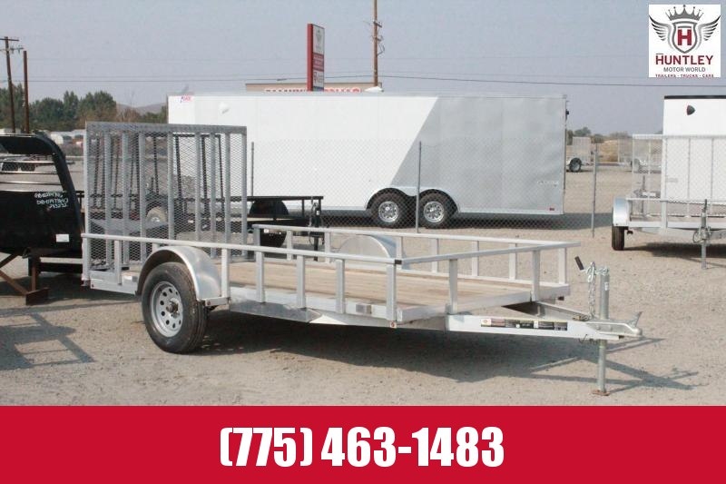 6x12 AGW Aluminum with Wood Floor Utility Trailer