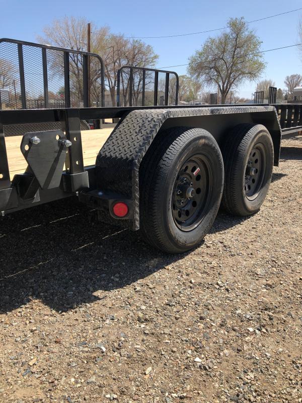 "83"" x 14' 2021 PJ Trailers Tandem Axle Channel Utility (UL)"