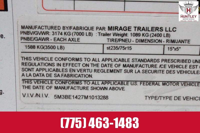 2021 Mirage/TNT Trailers XPS7.616TA2 Enclosed Cargo Trailer