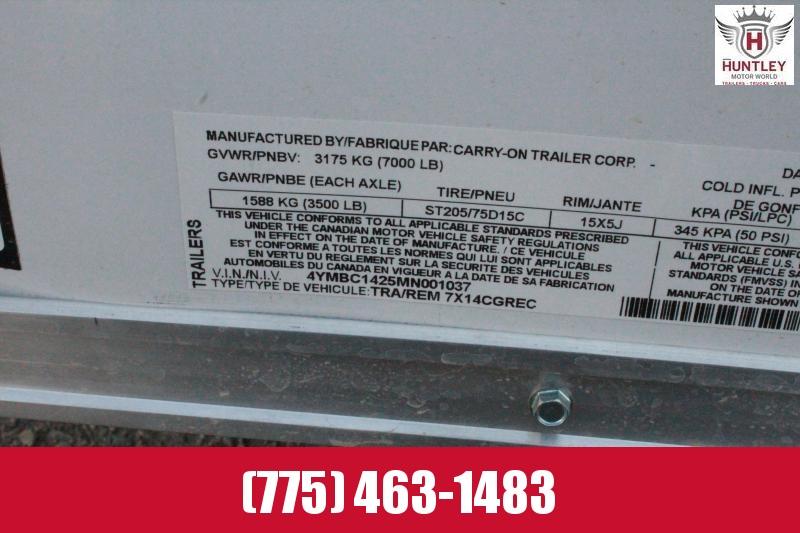 2020 Carry-On 7X14CGREC Enclosed Cargo Trailer $5395