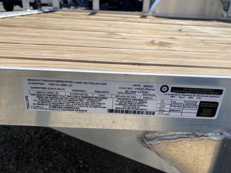 2021 Carry-On 6X8AGW Utility Trailer $1695