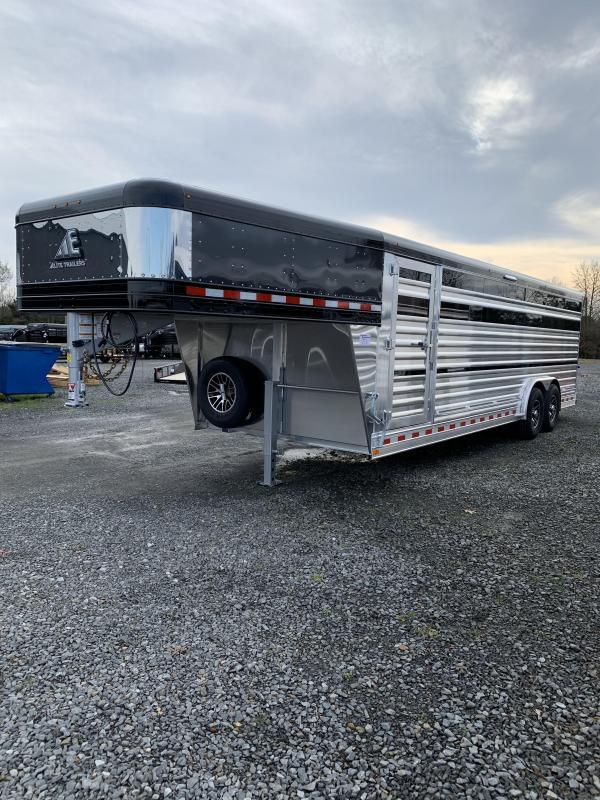 2021 Elite Trailers 8'x24' Show Cattle Stock Trailer