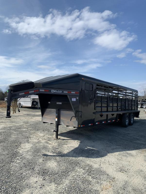 2021 Delco Trailers 24x6.8 Metal Top Livestock Trailer