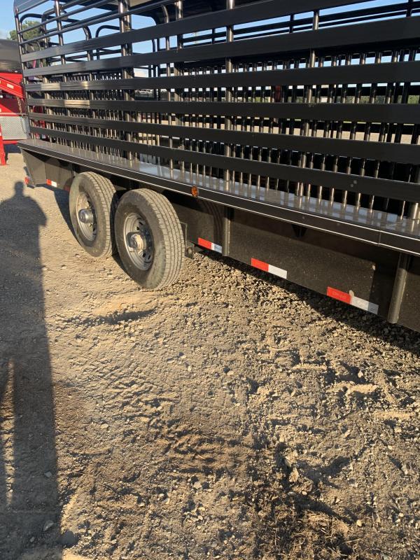 2020 Delco Trailers 24x6 Metal Top Stock Livestock Trailer