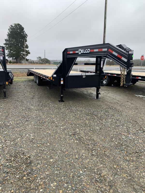 2021 Delco Trailers 25' GN Flatbed Trailer