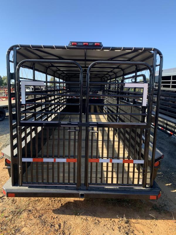2021 Delco Trailers 24x6.8 Stock Livestock Trailer
