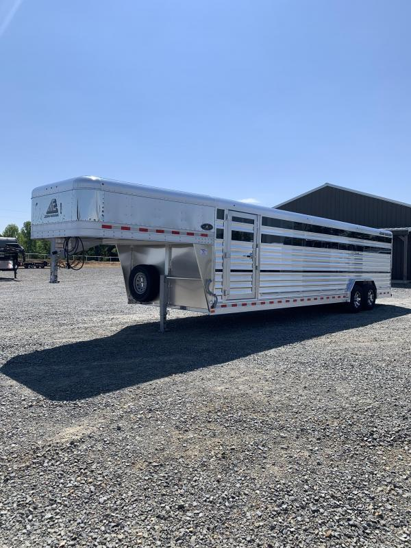 2022 Elite Trailers 8'x28' Show Cattle Stock Trailer