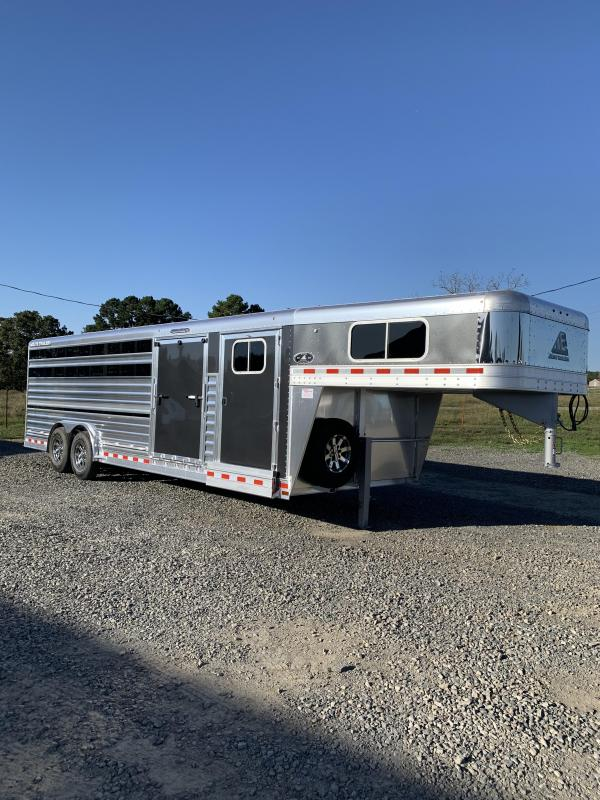 2021 Elite Trailers 8'x25' Show Cattle Stock Trailer