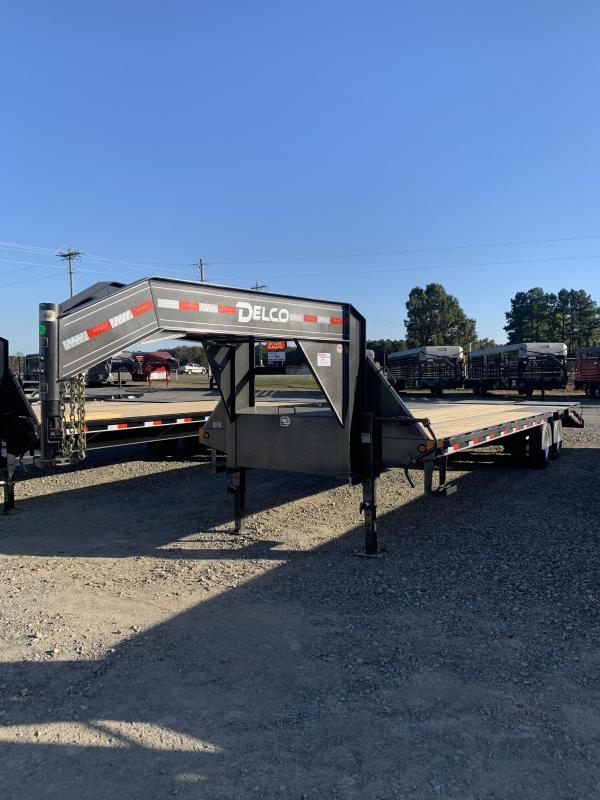 2021 Delco Trailers 30' GN Flatbed Trailer