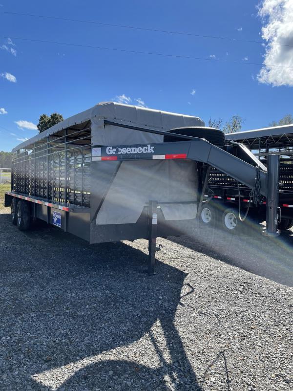 2018 Gooseneck 24x6.8 Stock Livestock Trailer